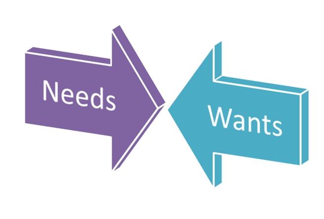 Bedakan Kebutuhan dan Keinginan