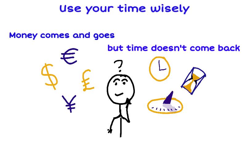 Kunci utama menjadi kaya adalah dengan memanfaatkan waktu
